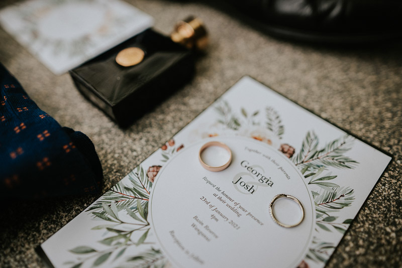 layflat wedding image of groom accessories