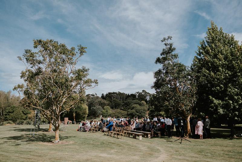 Whaganui wedding ceremony at Basin Reserve with Josh