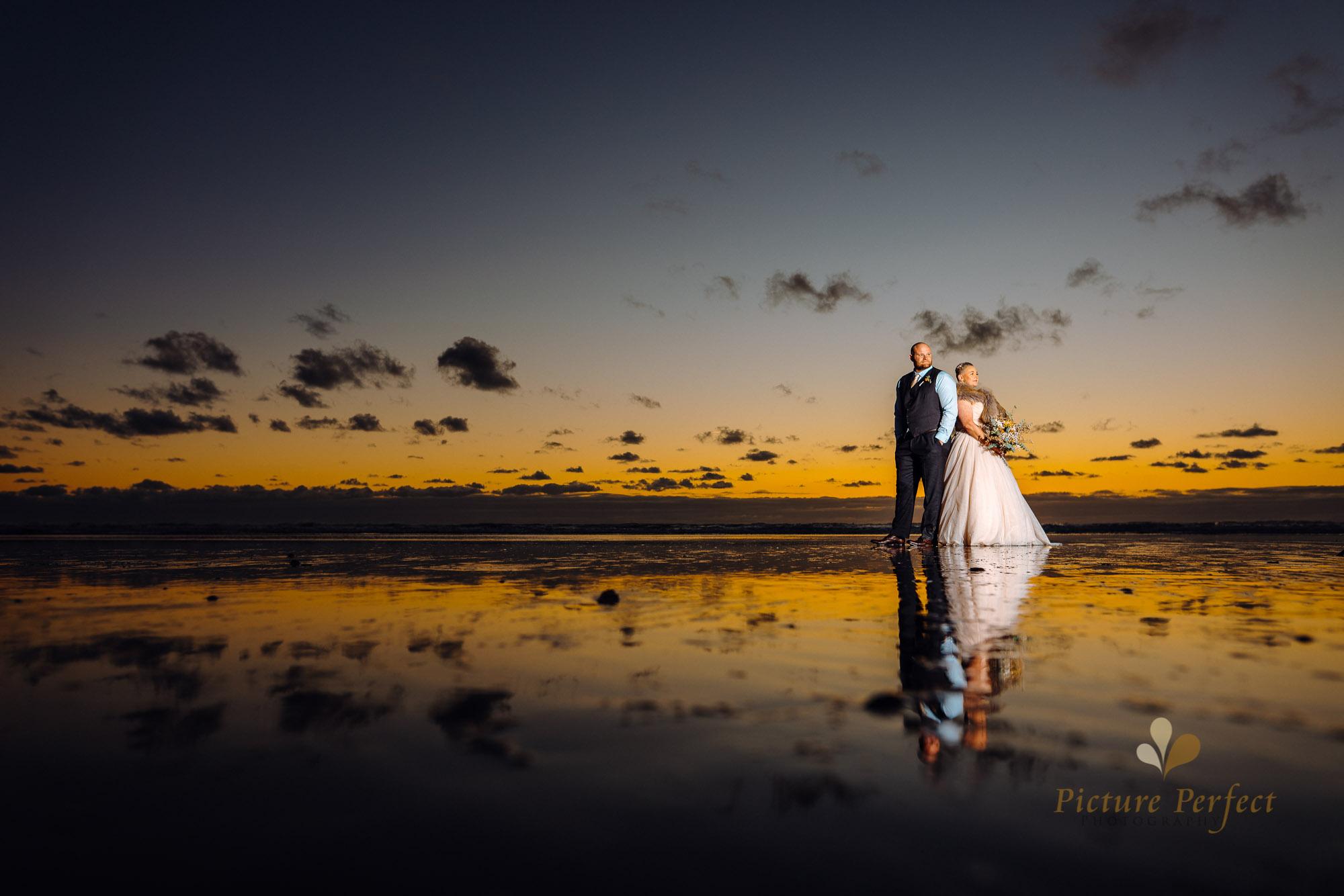 Manawatu beach bridal photography during golden hour with Tina 0058